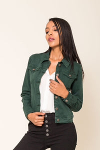 Wholesale Green Jeans Jacket