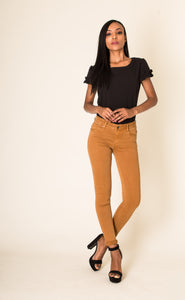 Wholesale Mustard Stretch Skinny Jeans