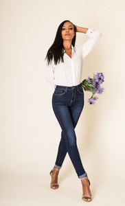 Wholesale Classic Blue High Waisted Jeans
