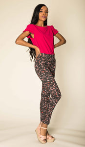 Wholesale Black Floral Jeans