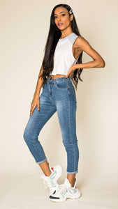 Wholesale Blue High Waist Jeans