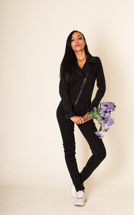 Wholesale Black Jeans Jumpsuit