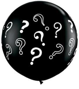 Gender Revealer Balloon - Question Mark 2 Pack