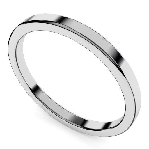 Classic 2mm wedding ring gold or platinum