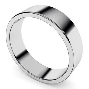 6mm plain flat wedding ring