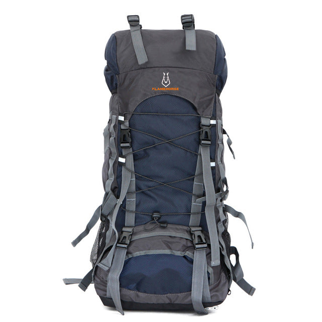 60L Nylon/Oxford Waterproof Backpack