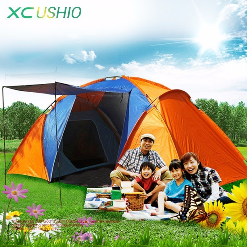 Double Layer Waterproof Camping Tent