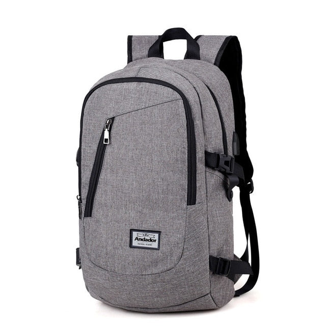 Casual USB Charging Backpack