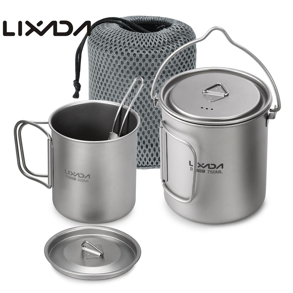 Lixada Outdoor Titanium Tableware