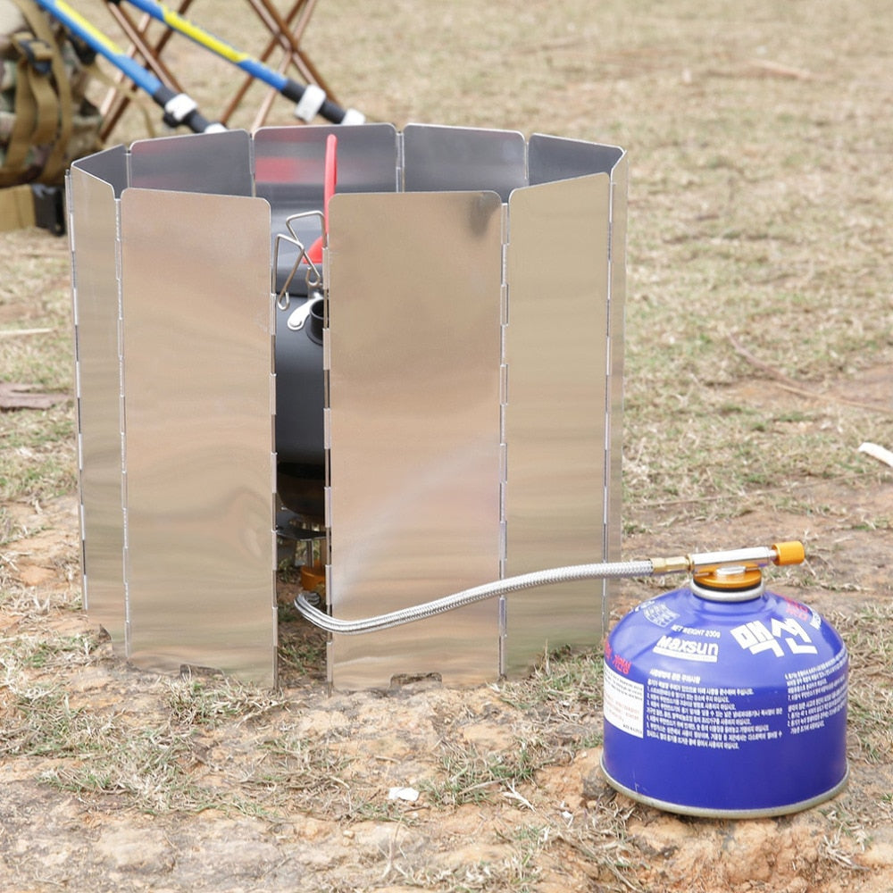 10 Plate Foldable Stove Windshield
