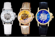 Load image into Gallery viewer, women's automatic skeleton watch UK online