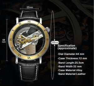 skeleton watch specifications - unusual watches online