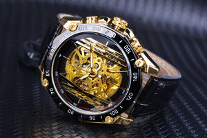 men's luxury watches online - mechanical watches - black and gold