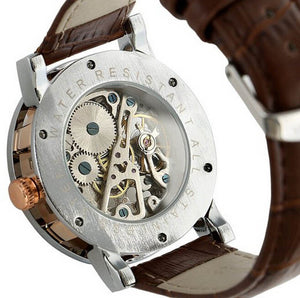 orkina luxury skeleton watch singapore - back view