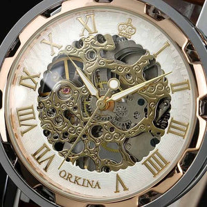 orkina luxury skeleton watch singaproe close up
