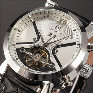 affordable black and silver tourbillion skeleton watch singapore