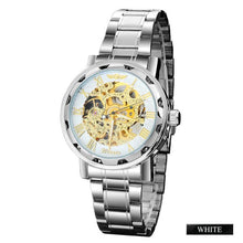 Load image into Gallery viewer, tempo - white skeleton mechanical watch for men singapore