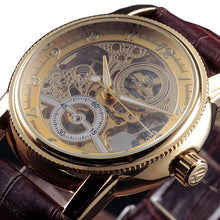 Load image into Gallery viewer, TRAVELLER - luxury skeleton mechanical watch UK - bronze