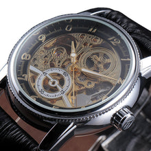 Load image into Gallery viewer, TRAVELLER - luxury skeleton mechanical watch UK - black gold