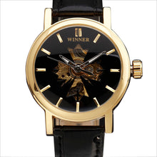 Load image into Gallery viewer, polaris - semi skeleton watch women singapore England - black