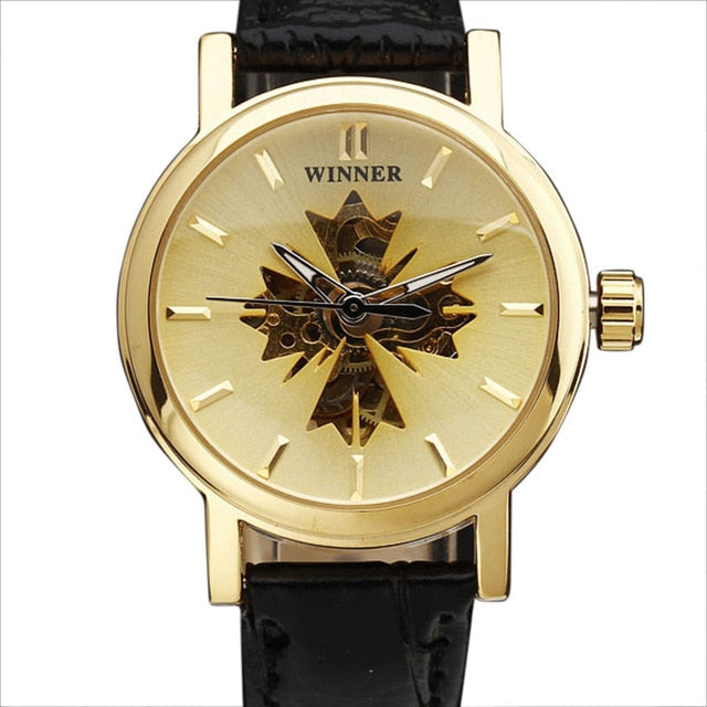 polaris - semi skeleton watch women singapore