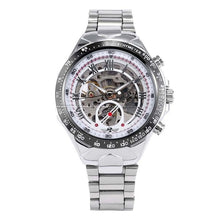 Load image into Gallery viewer, silver skeleton watch singapore - free delivery