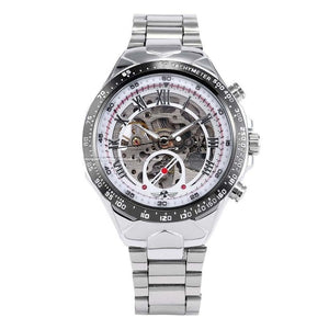 silver skeleton watch singapore - free delivery