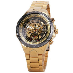 gold and black skeleton watch singapore - free delivery