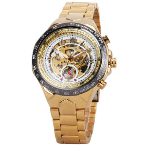 gold skeleton watch singapore - free delivery