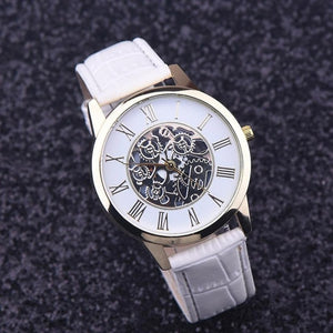 essential white strap full image - elegant affordable watches singapore