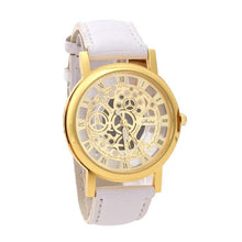 Load image into Gallery viewer, BASICNESS - simple affordable skeleton watch singapore - white gold