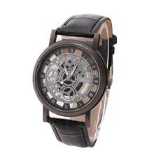 Load image into Gallery viewer, BASICNESS - simple affordable skeleton watch UK black black