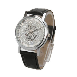 BASICNESS - simple affordable skeleton watch singapore black silver
