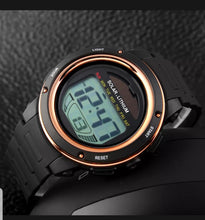 Load image into Gallery viewer, solar powered digital sports watch singapore - gold
