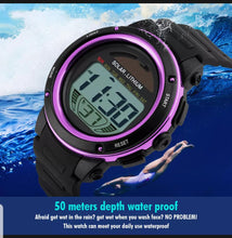 Load image into Gallery viewer, solar powered digital sports watch singapore - waterproof