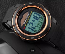 Load image into Gallery viewer, solar powered digital sports watch singapore - fashionable