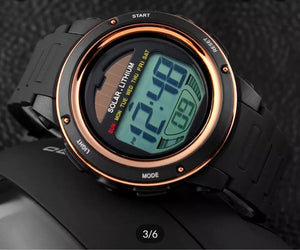 solar powered digital sports watch singapore - fashionable