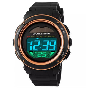 solar powered digital sports watch singapore rubber