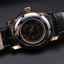 Load image into Gallery viewer, TRAVELLER - luxury skeleton mechanical watch UK - back
