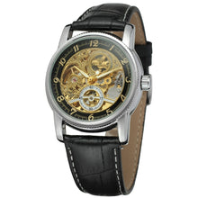 Load image into Gallery viewer, traveller skeleton watch UK - black gold