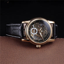 Load image into Gallery viewer, TRAVELLER - luxury skeleton mechanical watch UK - side