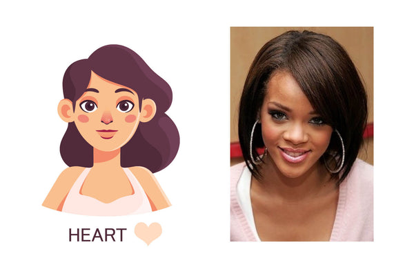 wig styles for heart face shape