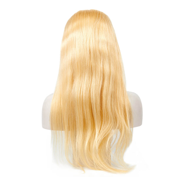 13x6 Lace Front Blonde Straight Wigs
