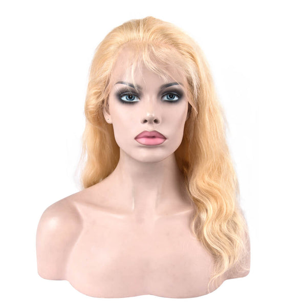 613 Blonde Beach Wave Human Hair Lace Front Wig