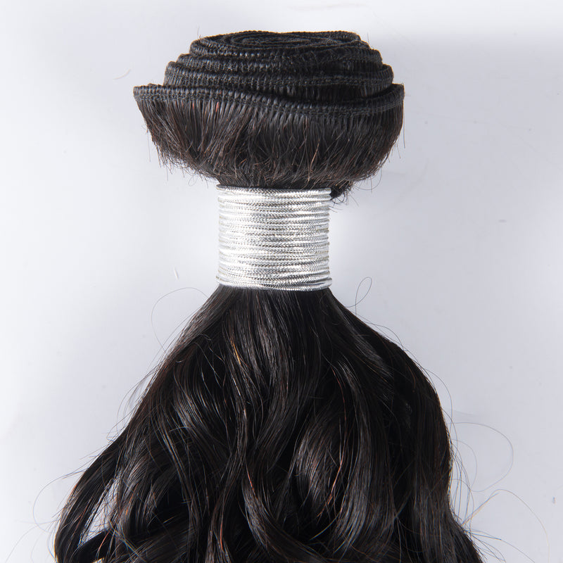 100% human virgin braid natural wave hair bundle