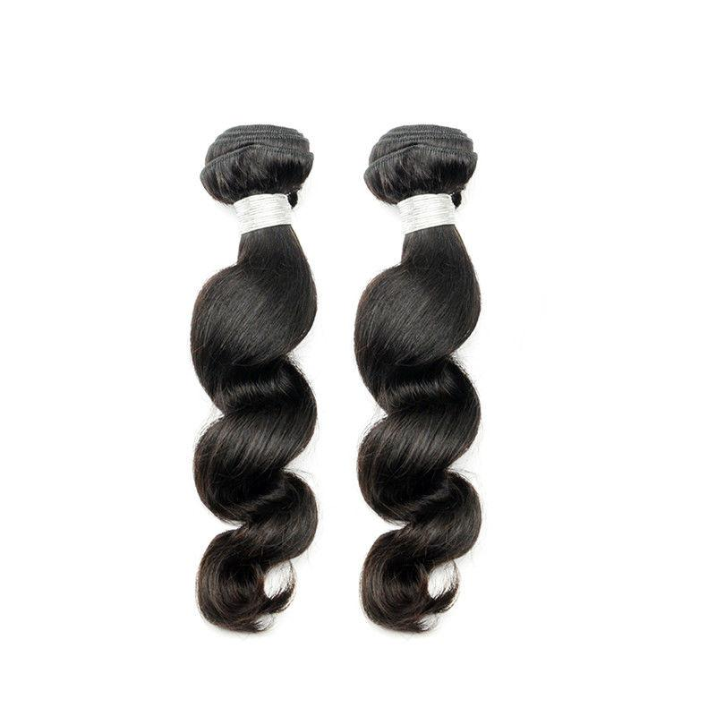 100% human virgin 10a loose wave hair bundle