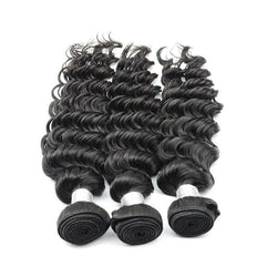 100% human virgin braid deep wave hair bundle