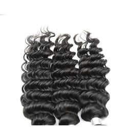 100% human virgin 9a deep wave hair bundle
