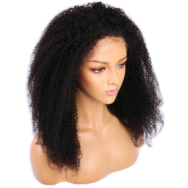 Kinky Curly Lace Front Human Hair Wigs-2