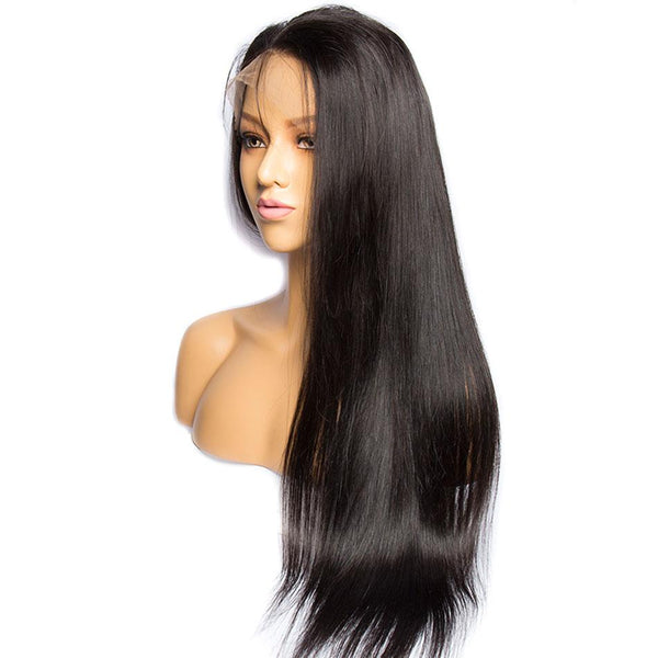 Pre-Plucked Straight 360 Lace Frontal Wig-1